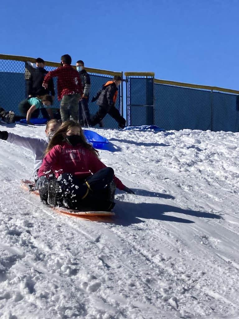 PE sledding