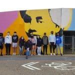 Lucy Simms Mural in the Northeast Community Neighborhood of Harrisonburg