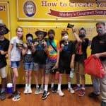 Seventh grade stop at Shirley's Popcorn, downtown Harrisonburg