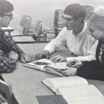 John Fairfield, SIdney Stoltzfus, and Kathryn Stoltzfus were selected to appear n the local WSVA-TV Klassroom Kwiz. They defeated Buffalo Gap High School and Broadway High School, and were defeated by Luray High School. The $60 they won was donated to the Christmas Work Drive. (1966 Ember yearbook)
