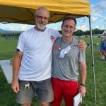 Kendal Bauman of EMS and Jay Wood, 31-year coach at St. Christopher's and 20-year friend of Bauman. Photo by Jennifer North Bauman