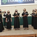 Chamber Choir at the Virginia Mennonite Relief Sale 2021. Photo by  Jim Bishop.