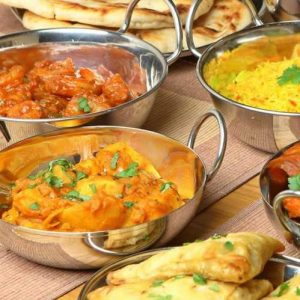 An Indian meal for six, for sale in online auction