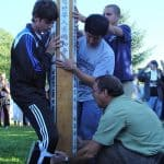 Installation of peace pole in 2007